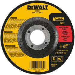 DeWalt High Performance 4-1/2 in. Dia. x 7/8 in. Aluminum Oxide Cut-Off Wheel 1 pc.