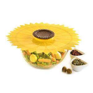 Charles Viancin  11 in. L Yellow  Silicone  Large Sunflower Lid  1