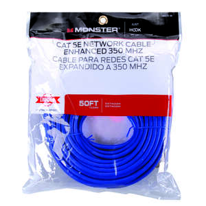 Monster Just Hook It Up  50 ft. L Category 5E  Networking Cable