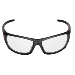Milwaukee  Anti-Fog Performance Safety Glasses  Clear Lens Black/Red Frame 1 pc.
