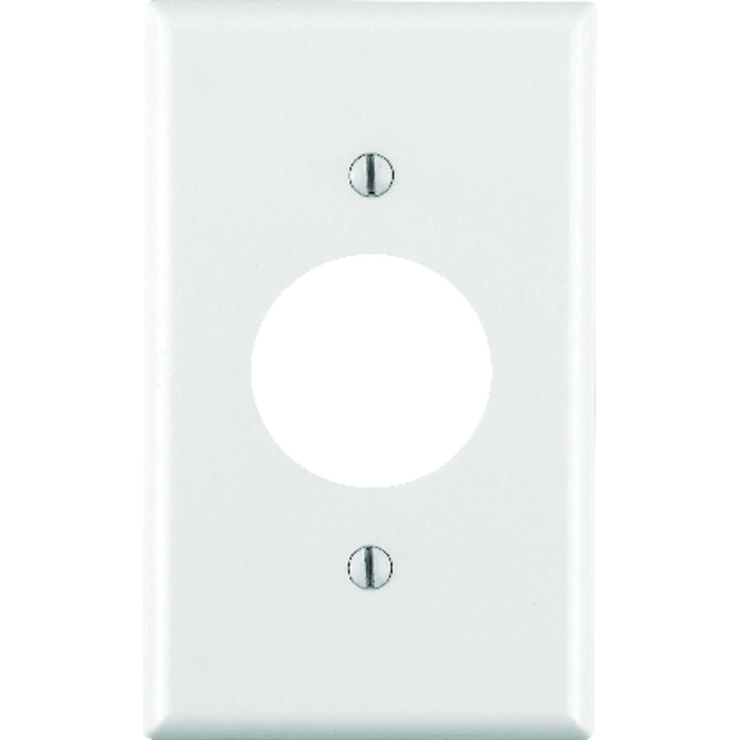Leviton  White  1 gang Plastic  Wall Plate  1 pk Outlet