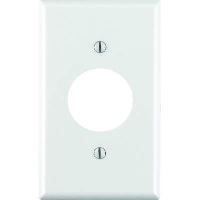 Leviton  White  1 gang Thermoset Plastic  Outlet  Wall Plate  1 pk