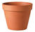 Deroma 5.7 in. H x 6 in. Dia. Clay Traditional Planter Terracotta