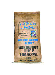 Wicked Good Charcoal  Weekend Warrior Blend  All Natural Hardwood  Lump Charcoal  20 lb.