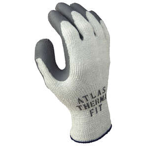 Atlas  Therma Fit  Unisex  Indoor/Outdoor  Rubber Latex  Cold Weather  Work Gloves  Gray  S