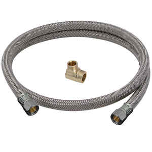 BrassCraft  Speedi Plumb Plus  3/8 in. Compression   Steel  Dishwasher Supply Line