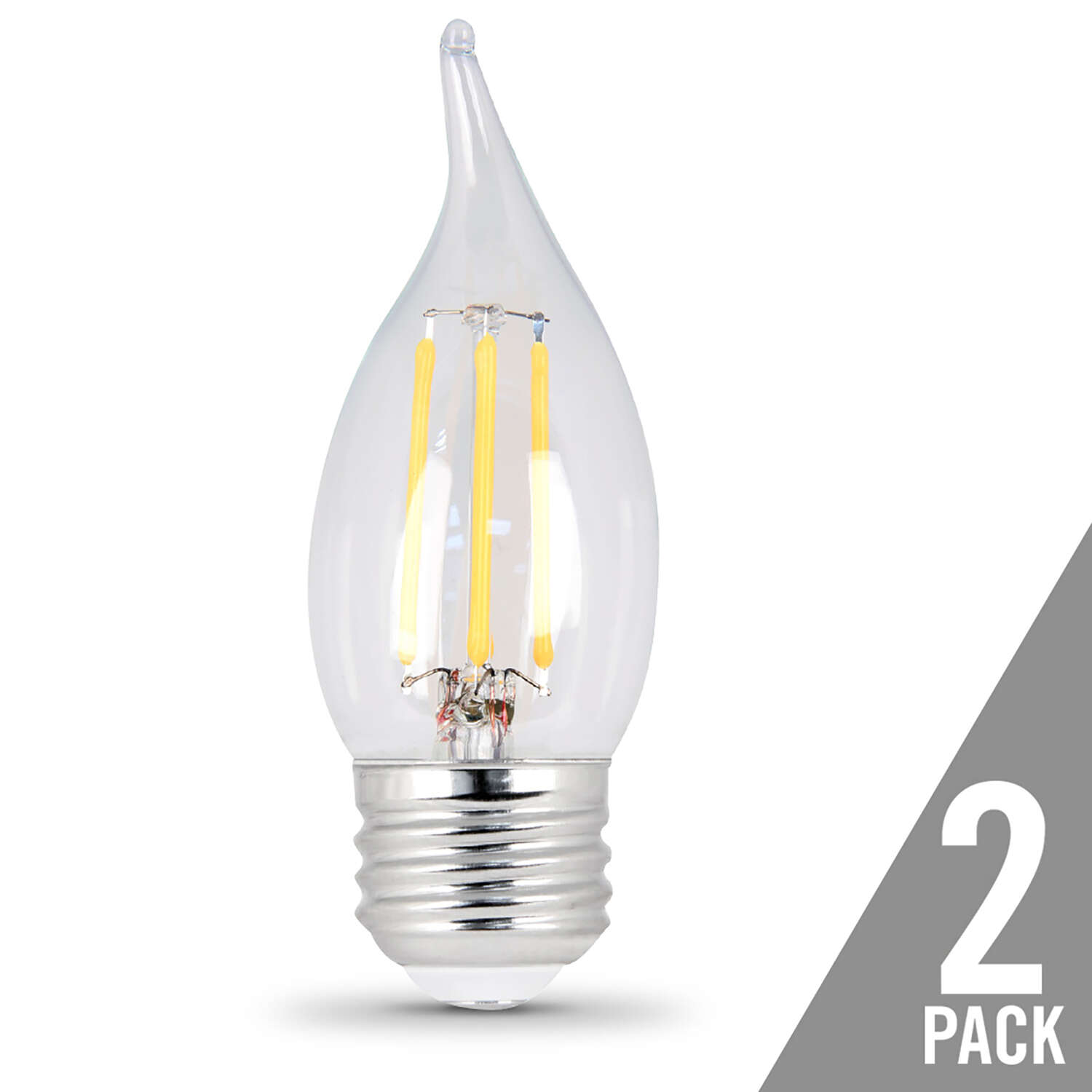 FEIT Electric  4.5 watts CA10  LED Bulb  300 lumens Soft White  Chandelier  40 Watt Equivalence