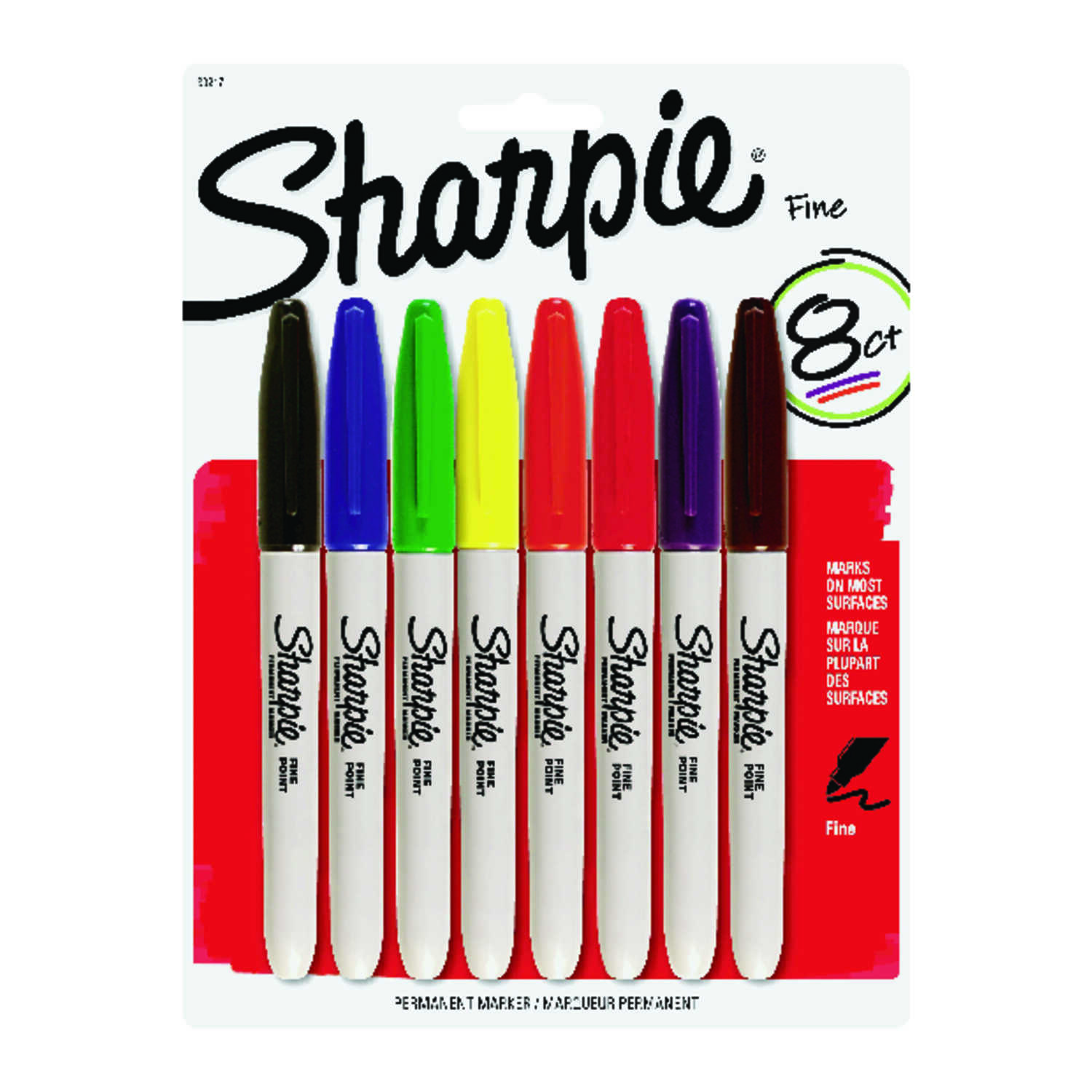 Sharpie  Assorted  Fine Tip  Permanent Marker  8 pk