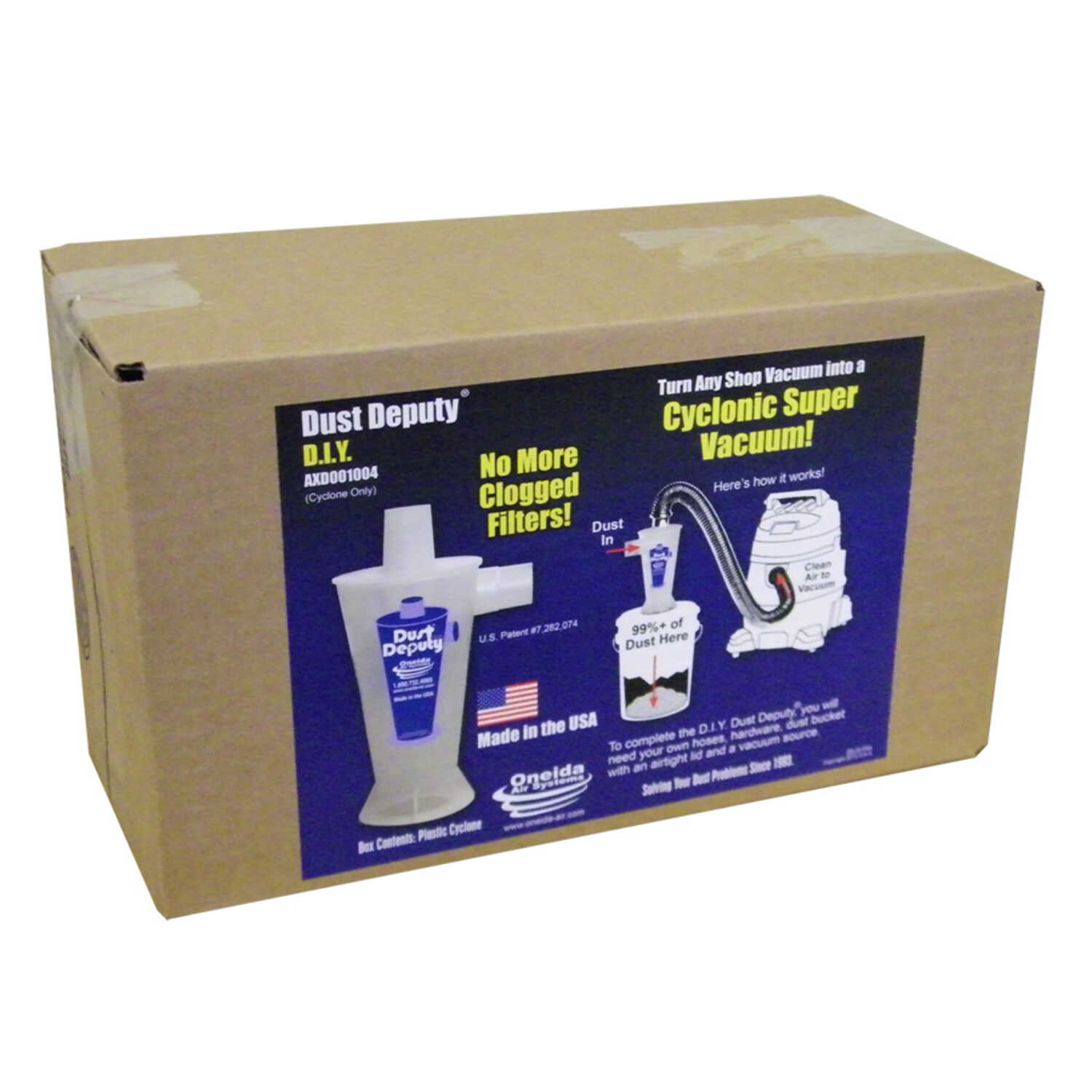 Oneida Air Systems  6.25  L x 7 in. W x 9 in. Dia. Wet/Dry Vac Cyclone Separator Kit  1 pc.