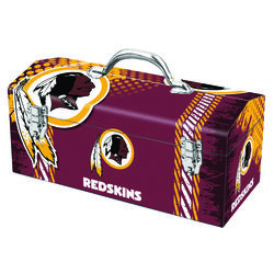 Windco  16.25 in. Steel  Washington Redskins  Art Deco Tool Box  7.1 in. W x 7.75 in. H