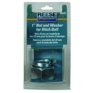 Reese  Towpower  Steel  1in. Diameter  Hitch Ball Nut/Washer Assembly