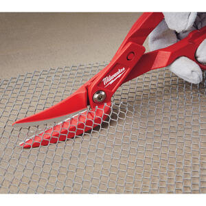 Milwaukee  11.3 in. Forged Alloy Steel  Offset  Compound Tinner Snips  20 Ga. 1 pk