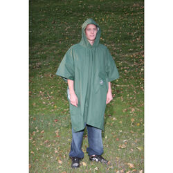 Boulder Creek  Green  PVC-Coated Nylon  Rain Poncho