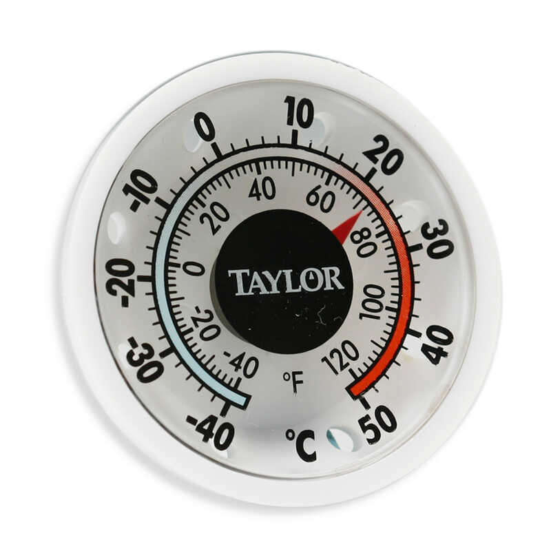 Taylor  Dial Thermometer  Plastic  White