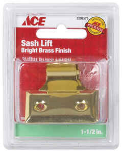 Ace  1.5 in. L Bright  Brass  Universal  Hook Sash Lift  2 pk