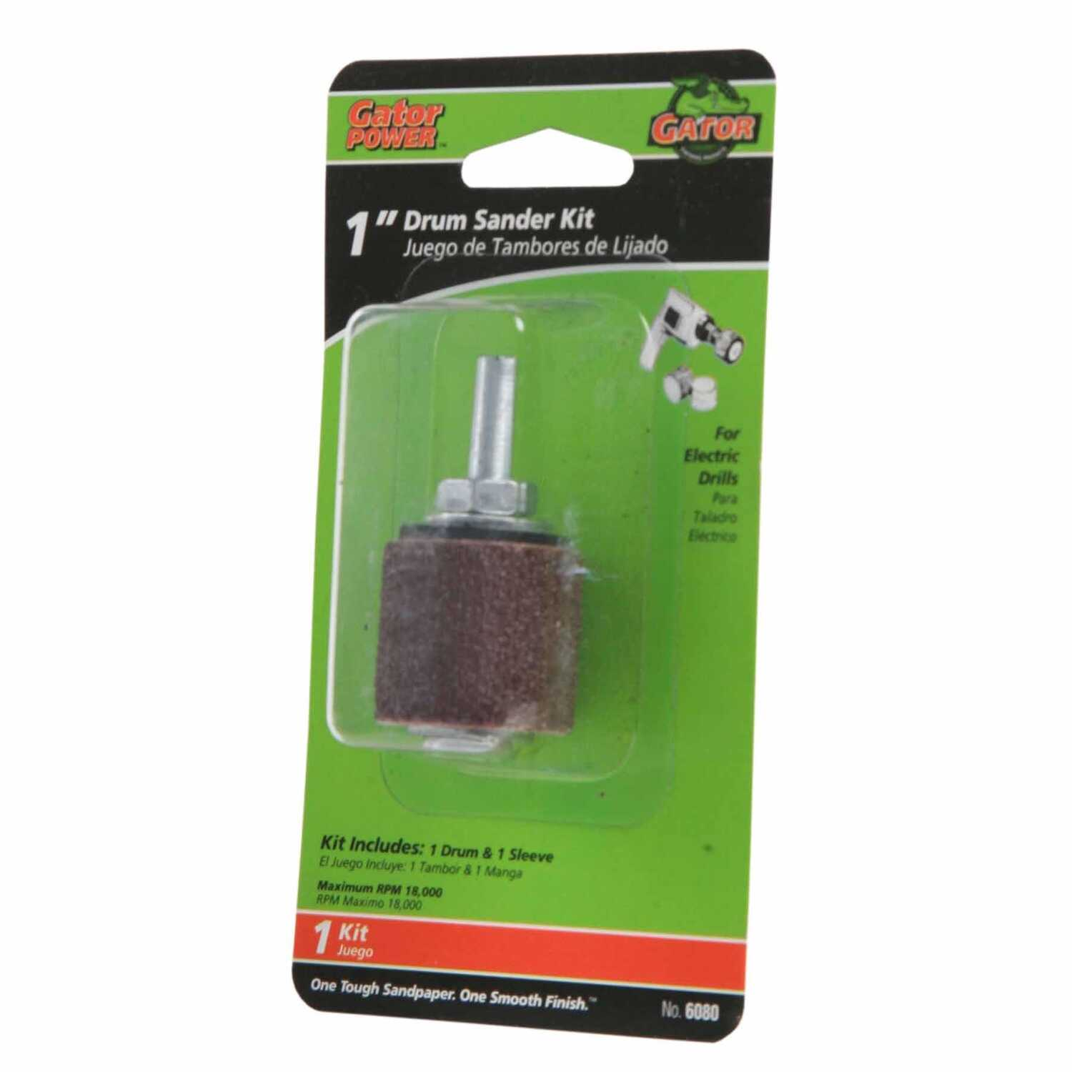 Gator  1 in. Dia. x 1 in. L Aluminum Oxide  Drum Sander Kit  50 Grit Coarse  1 pc.