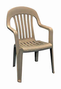Adams  Brown  Polypropylene  Chair  High-Back