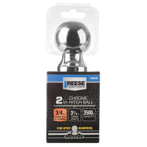 Reese  Towpower  Chrome Plated Steel  Standard  2 in. 3-3/8 in. Trailer Hitch Ball
