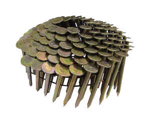 National Nail  Pro-Fit  1-3/4 in. .120 Ga. Angled Coil  Roofing Nails  15 deg. Smooth Shank  7200 pk