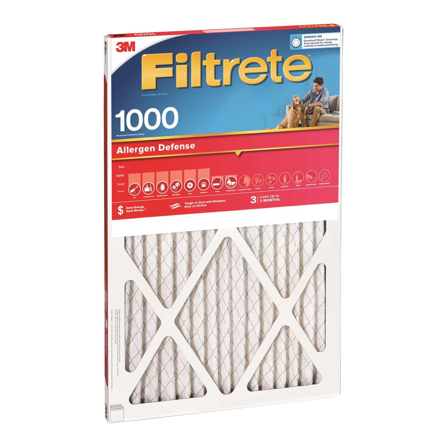 3M  Filtrete  30 in. H x 20 in. W x 1 in. D Air Filter