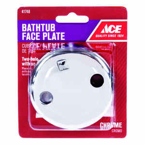 Ace  3-1/4 in. Dia. Chrome  Overflow Faceplate