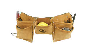 CLC Work Gear  Heavy Duty 8  Leather/Suede  Work Apron  1 pk Black
