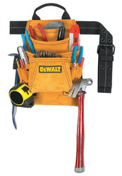 DeWalt 4.25 in. W x 15 in. H Suede Tool Bag 10 pocket Tan 1 pc.