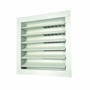 Master Flow  12 in. W x 12 in. L White  Aluminum  Wall Louver