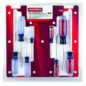 Craftsman  8 pc. 8 in. Screwdriver Set  Steel