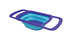 Squish  10-5/16 in. W x 15 in. L Two Tone Blue  Collapsible Colander