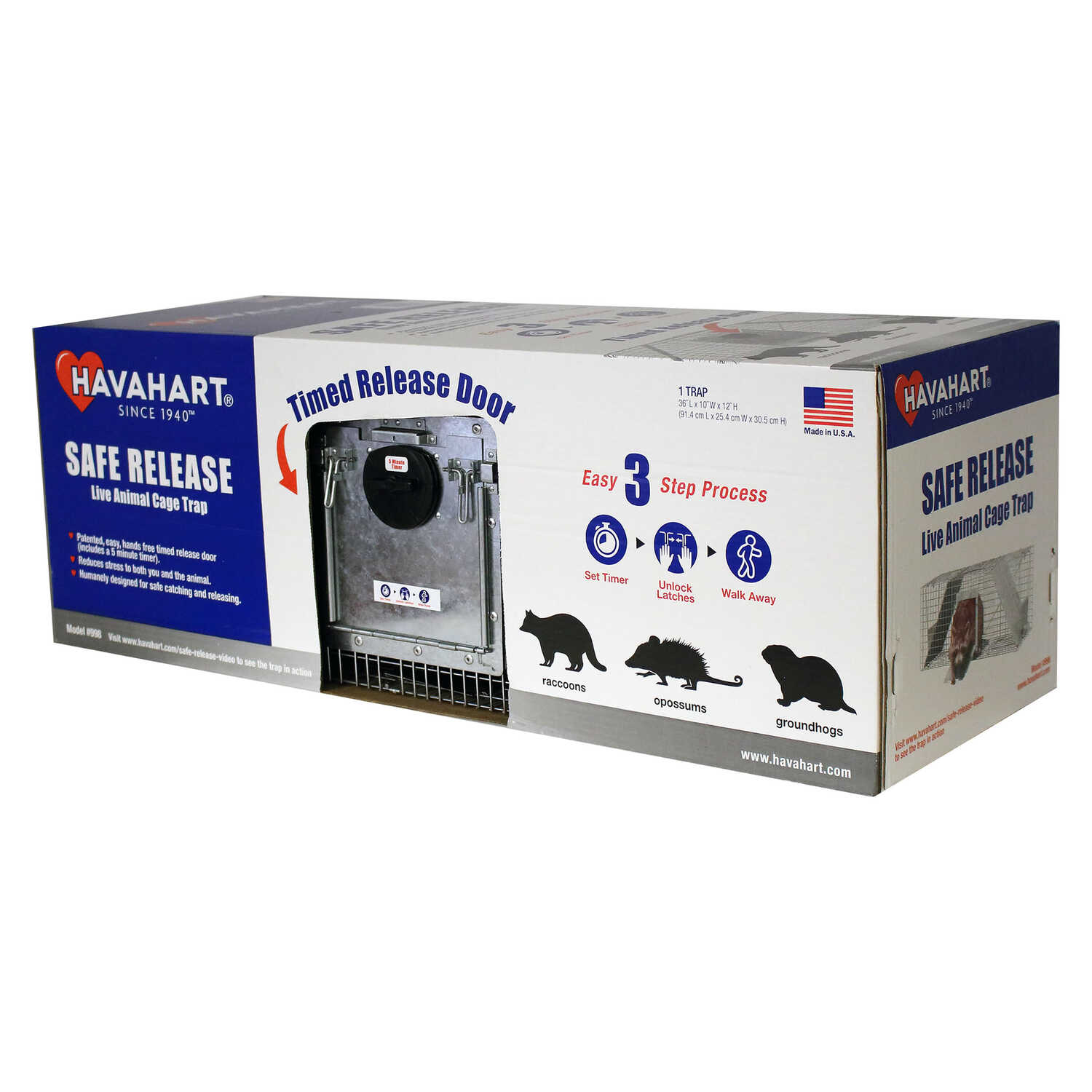 Havahart  Safe Release  Live Catch  Animal Trap  For Raccoons 1 pk
