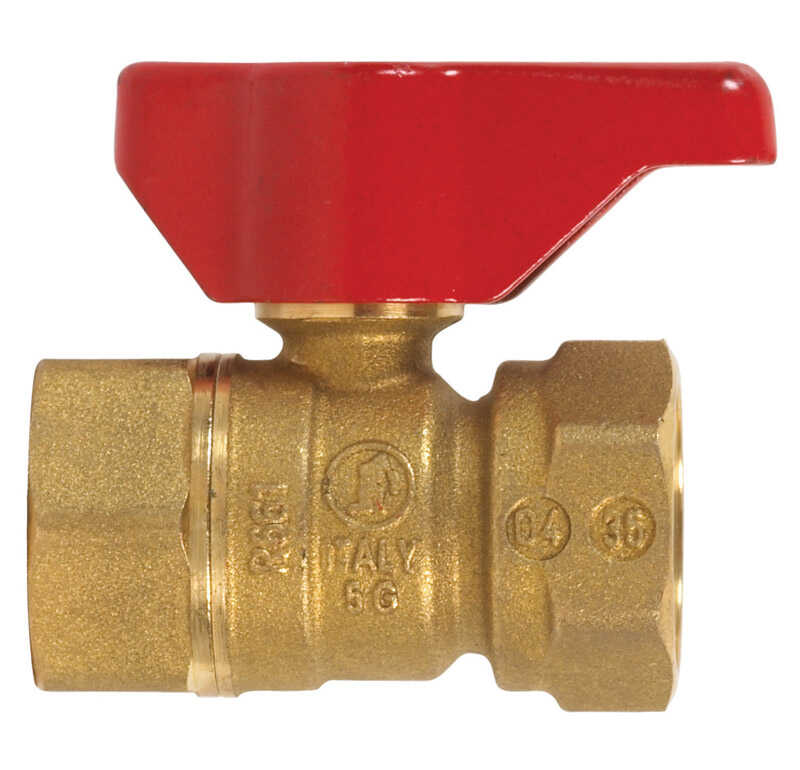 B & K  Gas Ball Valve  3/4 in. FPT   x 3/4 in. Dia. FPT  Brass  Two Piece