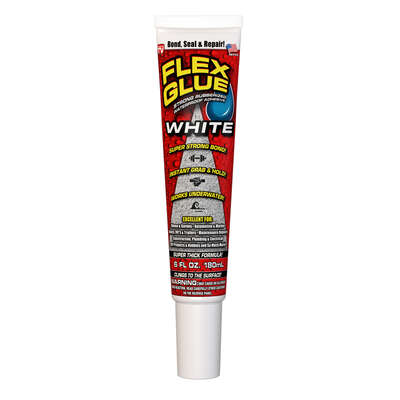 FLEX GLUE White Rubberized Waterproof Adhesive 6 oz.