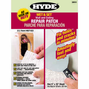 Hyde  0.8 ft. L x 5 in. W White  Wet & Set Wall and Ceiling Repair Patch  Composite