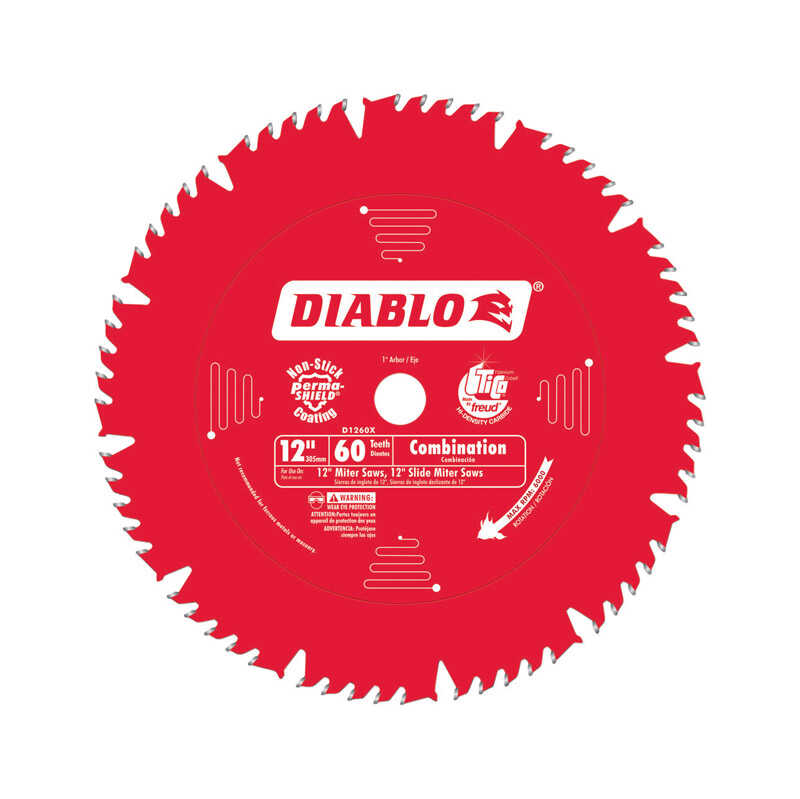 Diablo  12 in. Dia. x 1 in.  Carbide Tip  Circular Saw Blade  60 teeth