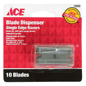 Ace  Carbon Steel  Single Edge  Razor Blade  1.75 in. L 10 pk