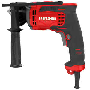 Craftsman  1/2 in. Keyed  Corded Hammer Drill  Kit 7 amps 3100 rpm 52700 bpm Red