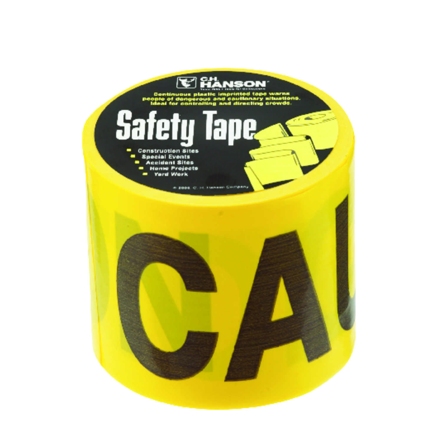 C.H. Hanson  200 ft. L x 3 in. W Plastic  Caution  Barricade Tape  Yellow