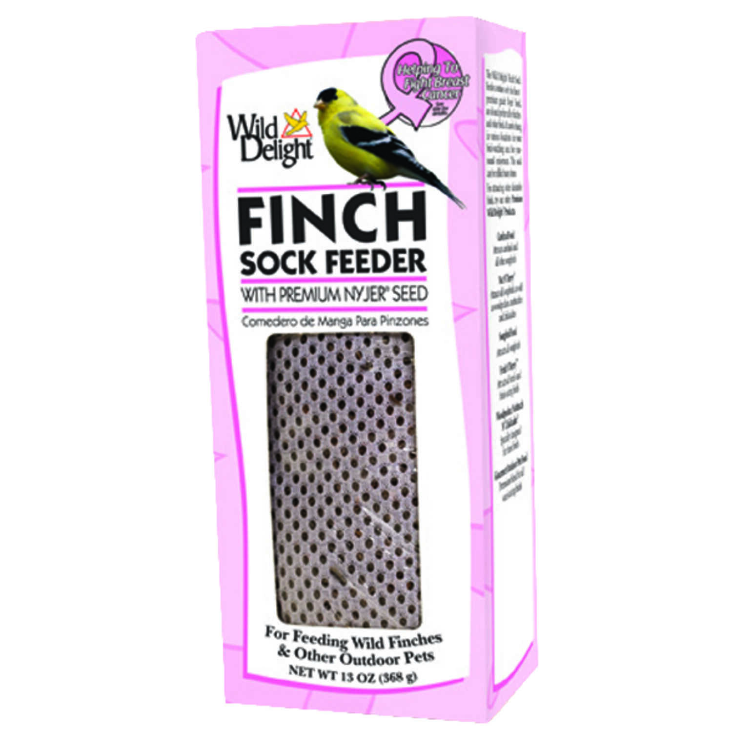 Wild Delight  Finch  13  Mesh  Sock Bird Feeder with Seed  1 ports