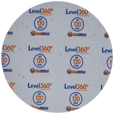 Full Circle  Level 360  8.75 in. Aluminum Oxide  Hook and Loop  Sanding Disc  120 Grit Very Fine  5