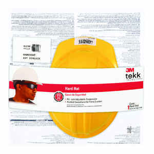 3M  Polyethylene  Hard Hat  Yellow  1 pk