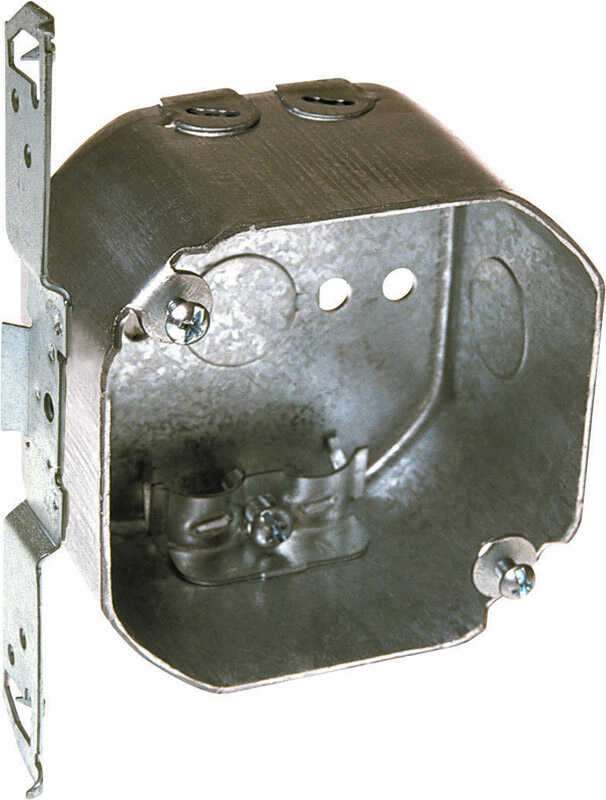 Raco  4 in. Steel  2 gang Junction Box  Gray  Octagon  2 Gang