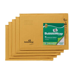 Duck 8.5 in. W x 11 in. L Yellow Padded Envelope 5 pk