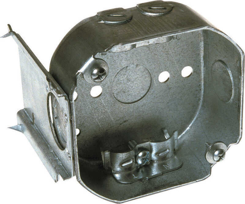 Raco  3-5/8 in. 1 Gang  1 gang Octagon  Steel  Gray  Junction Box