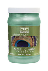 Modern Masters  Shimmer  Satin  Teal  Metallic Paint  1 qt.