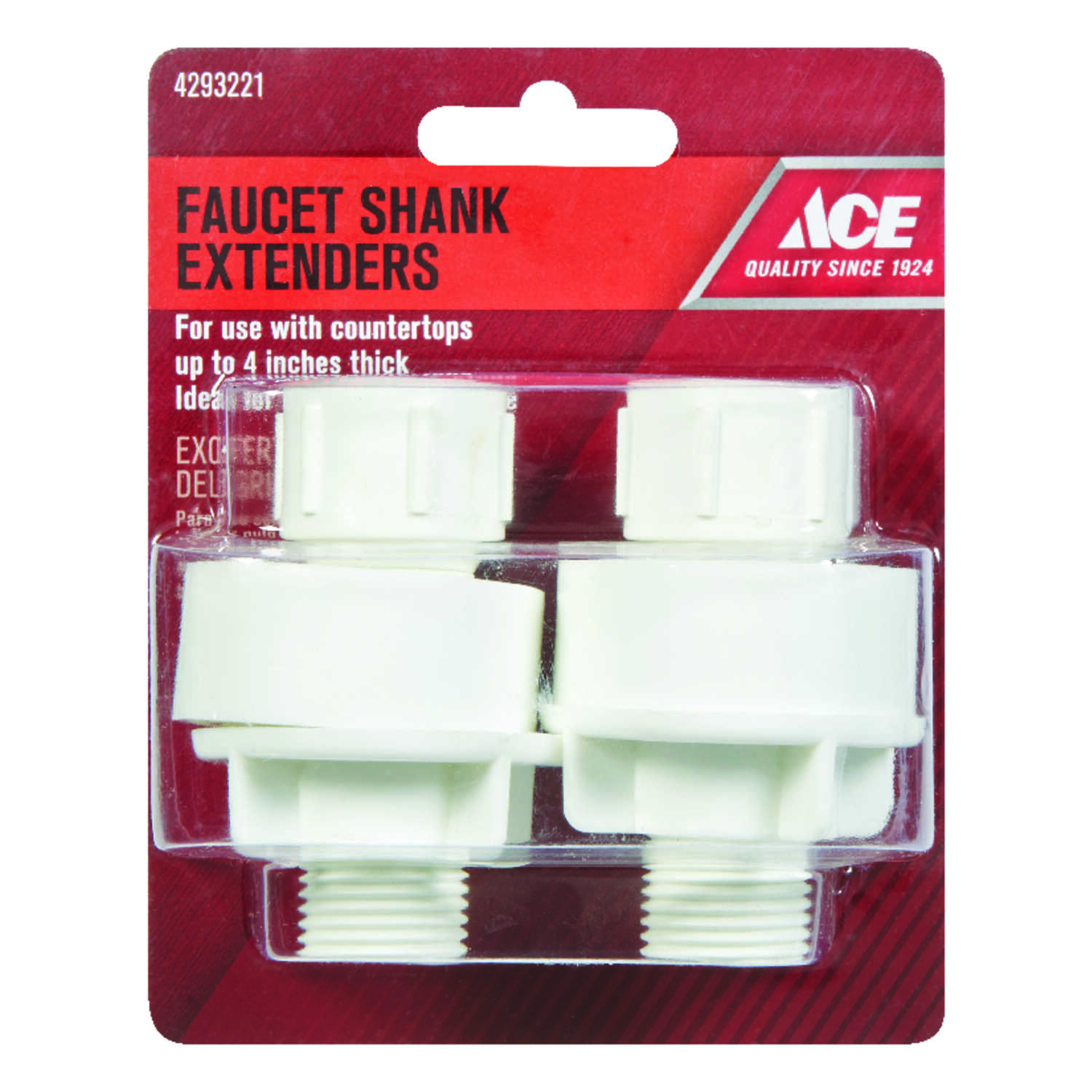 Ace Plastic Faucet Shank Extender 1 2 In Dia