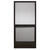Precision  Extrudaform  79-3/4 in. H x 35-1/8 in. W Provencial  Bronze  Steel  Screen Door