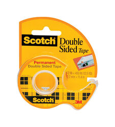Scotch Double Sided 1/2 in. W x 450 in. L Double Sided Tape Clear