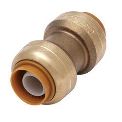 SharkBite 1/2 in. Push x 1/2 in. Dia. Push Brass Coupling