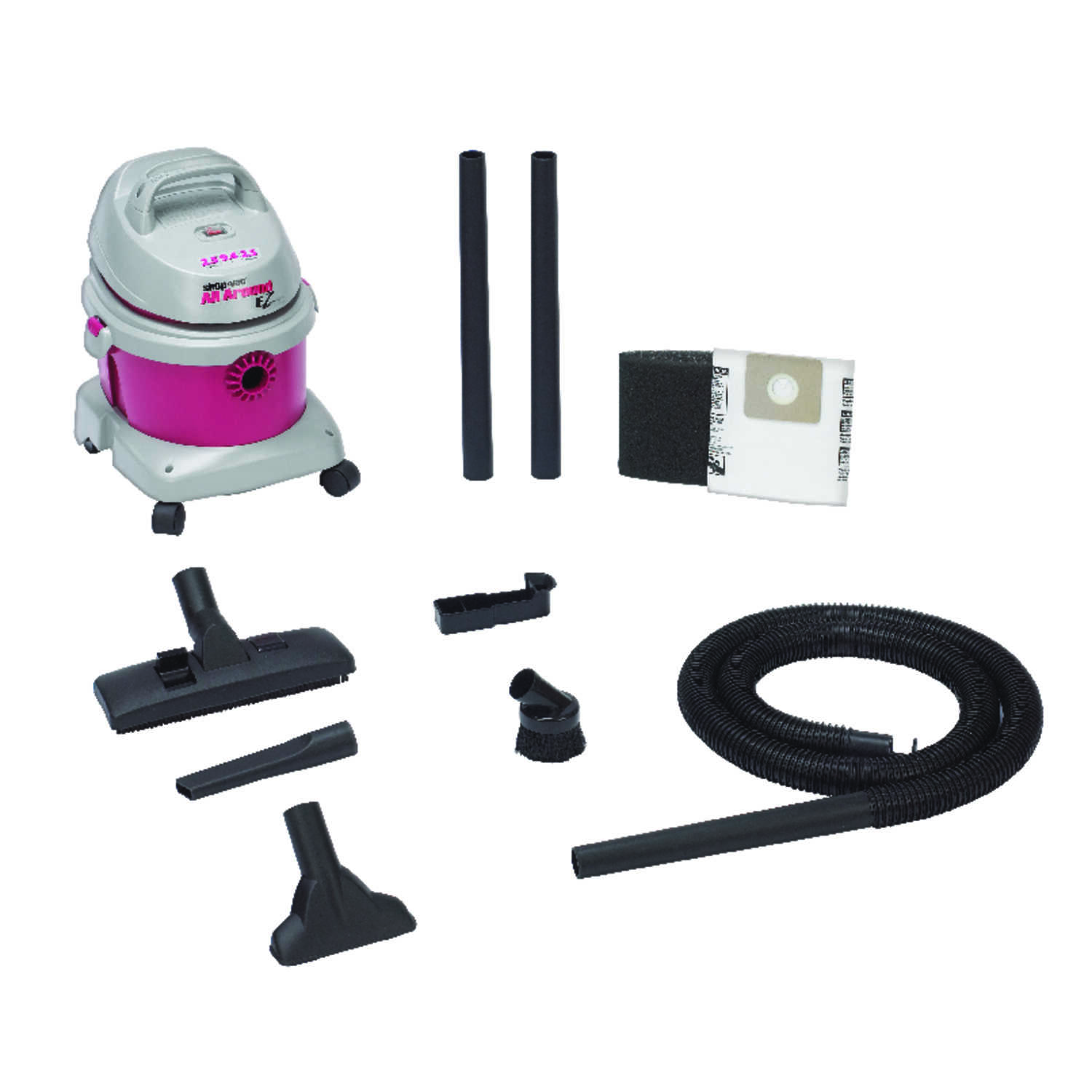Shop-Vac  All Around EZ  2.5 gal. Corded  Wet/Dry Vacuum  2.5 hp 120 volts Pink  12 lb.